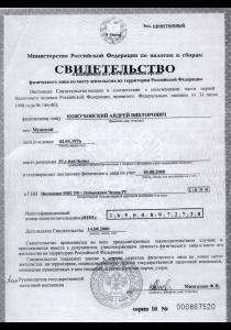 ИНН ИП Кожуховский А.В.