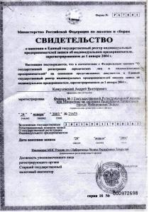ЕГРИП Кожуховский А.В.